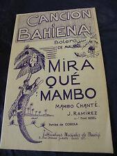 Partition Cancion Bahiena de Maurizi Mira qué Mambo Ramirez 1955 Music Sheet