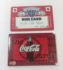 2 Expired Credit Cards For Collectors - Coca Cola Budweiser - (7254)