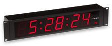 Leitch DTD-5225 Large Red LED Digital SMPTE/EBU Timecode Clock Wall Display VGC