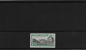 ASCENSION 1d GREEN MOUNTAIN, MOUNTED MINT, SG39, CAT £45