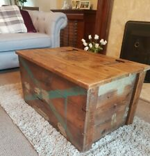 WW2 Second World War? Shipping Crate Wooden Coffee Table, Blanket Storage Box...