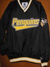 Pittsburg Penguins Men's Starter Pullover V Neck Lightweight Jacket Size XL