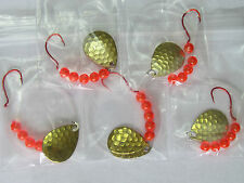 5 Spinner Rigs Leech Minnow Crawler Harness Walleye, Bass, Pike Colorado Blades