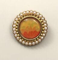 Vintage signed Avon Flower brooch & pendant