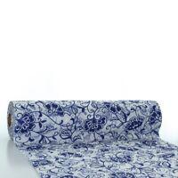 Tischläufer Liv in Blau aus Linclass® Airlaid 40 cm x 24 m - Floral Blüten