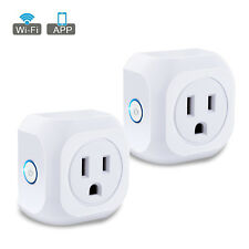 2pcs Smart WiFi US Plug Outlet Remote Control Timer Switch Socket Alexa Google