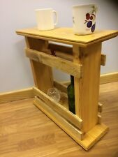 Side/ End Table space saver , for remote control , wine bottle ,Coffee,handmade