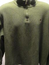 """Polo Ralph Lauren Green Sweater Shirt 1/4"""" Zip Size XL"""