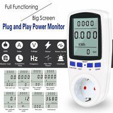 AC power meter 230v digital wattmeter energy monitor electricity consumption eu