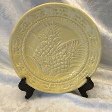 BORDALLO PINHEIRO Portugal Pineapple Plate Pale Yellow 8.25""