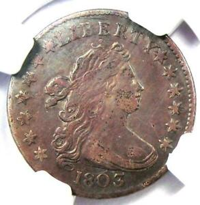 1803 Draped Bust Dime 10C - Certified NGC XF Details (EF) - Rare Date Coin!