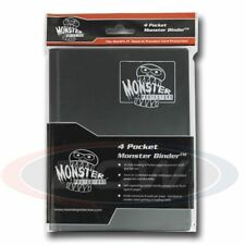4-POCKET MONSTER PROTECTOR BINDER - MATTE BLACK
