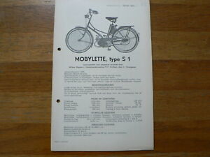 MOBYLETTE S1, S2 AND S3 1955 ONWARDS SERVICE AND REPAIR GUIDE MOPED MOFA ARNHEM