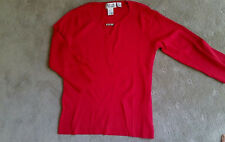 NEW - STYLE & CO COLLECTION - RED FINE KNIT TOP WITH DIAMANTE DETAIL - SZ M (12)
