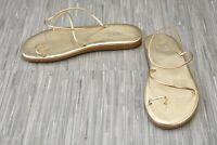 **Ancient Greek Sandals Kansiz Flat Leather Sandals, Women's Size 8 Platinum NEW