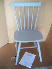 Massivholzstuhl Stuhl grau lackiert, skandinavisch, Gummibaumholz Impressionen C