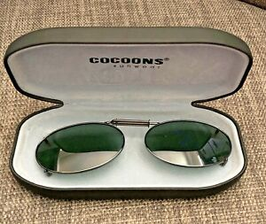 Cocoons Sunwear Oval Clip On Sunglasses with Hard Case
