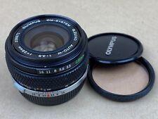 Olympus OM-System 28mm F/3.5 G. Zuiko Auto-W Manual Focus Lens w/caps & Filter