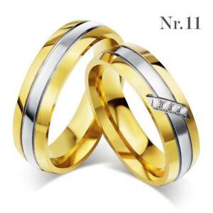 2! Edelstahl Partner Ringe Verlobungsringe Trauringe Freundschaftsringe Eheringe