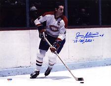 Jean Beliveau SIGNED 11x14 Photo Montreal Canadiens Habs PSA/DNA AUTOGRAPHED