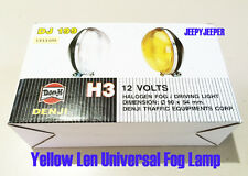 "Yellow Len Universal Halogen Fog Light Spot Lamp H3 12V 55W  3"" 90 x 54 mm DJ199"