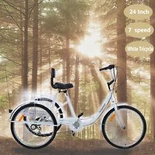 24 Zoll Dreirad 3 Räder für Erwachsene Shopping Erwachsenendreirad mit Korb