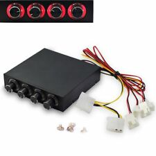 3.5inch PC HDD 4 Channel Speed Fan Controller LED Front Panel For Computer Fans