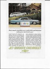 Chevrolet 1963 Impala 2 Door Blue Sport Coupe & Bel Air Wagon Jet Smooth Ad