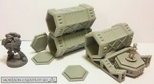 HC3D -Tech Terrain Cargo Box 30x60mm- Wargames Miniatures Scenery 40k 28m 15mm