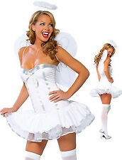 Angel Dress Up Costume with Wings & Halo, Womens - size S (AU 8 - 10)