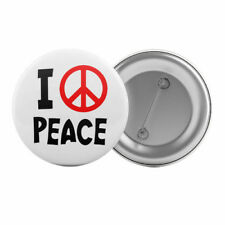 """I Love Peace - Badge Button Pin 1.25"""" 32mm Sign Symbol"""