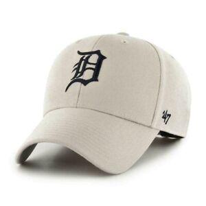 Detroit Tigers Cap MLB Baseball 47 Brand Cap Kappe Klettverschluß hellbeige
