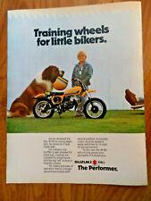 1980 Suzuki Motorcycle Scooter Ad Jr-50 The Performer St. Bernard Dog