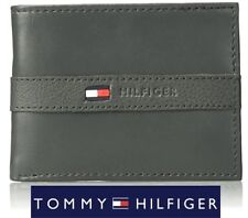 Tommy Hilfiger Men's Ranger Leather Passcase Wallet w/ Removable Card Holder,Box