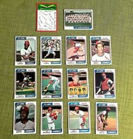 1974 TOPPS BASEBALL ST. LOUIS CARDINALS COMPLETE TEAM SET 27 NM-MT BROCK, GIBSON