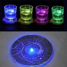 Farbe ändernde LED-helle-Flaschen-Schalen-Matten-Untersetzer-Verein-Bar-Party DE