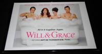 Will & Grace 2017 NBC Framed ORIGINAL 12x18 Vintage Advertising Display