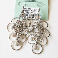 New Rhinestone Cluster Drop Earrings Gift Fashion Women Party Holiday Jewelry