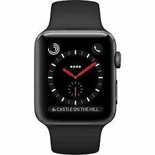 Apple 42mm Stainless Steel Case  Smart Watch - Black (MQK92LLA)