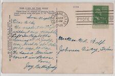 DPO 1942-1946 PM 1946 Pyote Army Air Base Br. Branch Monahans 2 Johnson TX Cover