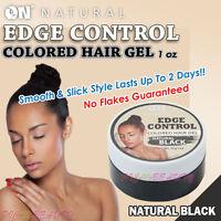 [ON NATURAL] Colored Edge Control Hair Gel 1 oz. [Natural Black]
