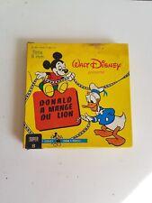 """Film super 8 Disney """"Donald a mangé du lion"""" N&B et muet"""