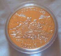 Canada 1989 Proof Silver Dollar Mackenzie River People in canoe .500 fine silve