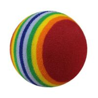 Super Rainbow Toy Ball Small Dog Cat Pet Eva Toys Golf Practice