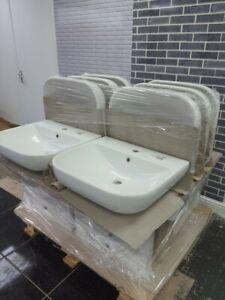 Twyford Bathroom Basin Sink Hand Wash Counter Top Wall Mounted Hung Ceramic New