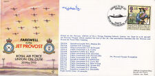 AC74b  Fare well to the Jet Provost. Flown in Jet Provost  Pilot signed