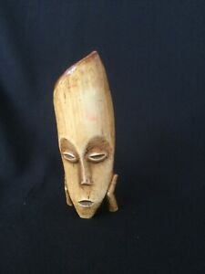 Vintage Small Carved Wooden Mask. Approximately 13.5cm high.