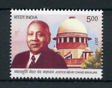 India 2017 MNH Justice Mehr Chand Mahajan 1v Set Architecture Flags Stamps
