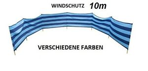 Windschutz Sichtschutz für Strand Garten See Meer 10M Baumwolle