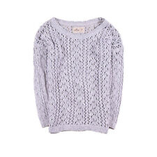Hollister California Damen Pullover Sweater Strick Gr.M (DE 38) Grau, 50907